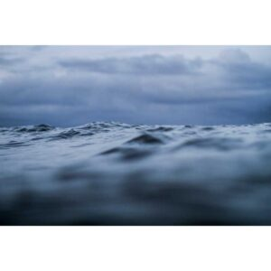 low angle close-up ocean photo